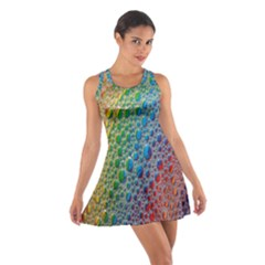 Bubbles Rainbow Colourful Colors Cotton Racerback Dress
