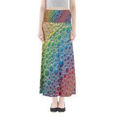 Bubbles Rainbow Colourful Colors Maxi Skirts
