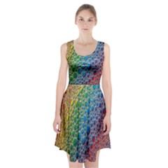 Bubbles Rainbow Colourful Colors Racerback Midi Dress