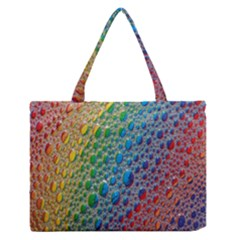 Bubbles Rainbow Colourful Colors Medium Zipper Tote Bag