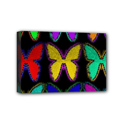 Butterflies Pattern Mini Canvas 6  x 4