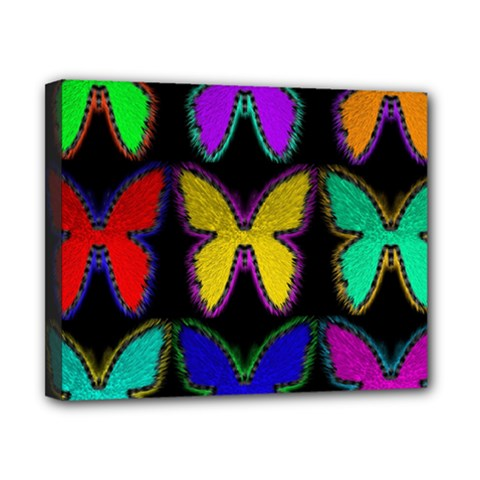 Butterflies Pattern Canvas 10  X 8