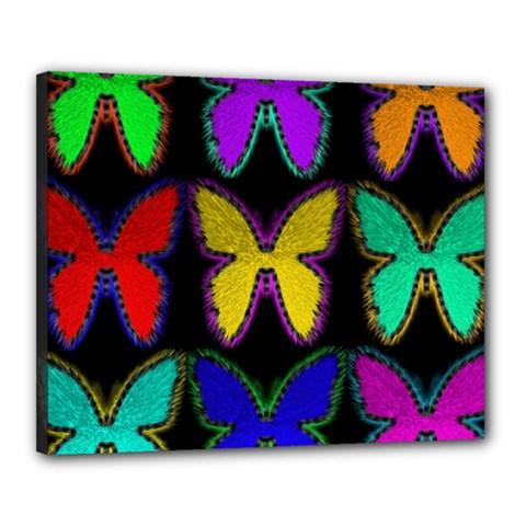 Butterflies Pattern Canvas 20  x 16