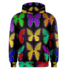 Butterflies Pattern Men s Zipper Hoodie