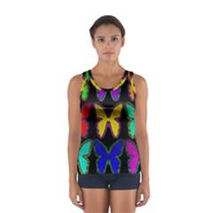 Butterflies Pattern Women s Sport Tank Top