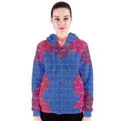 Butterfly Heart Pattern Women s Zipper Hoodie