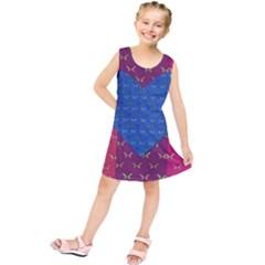Butterfly Heart Pattern Kids  Tunic Dress