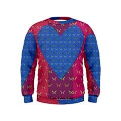 Butterfly Heart Pattern Kids  Sweatshirt