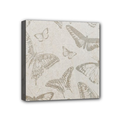 Butterfly Background Vintage Mini Canvas 4  x 4