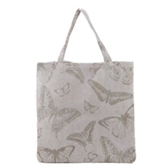 Butterfly Background Vintage Grocery Tote Bag