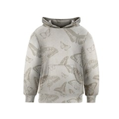 Butterfly Background Vintage Kids  Pullover Hoodie