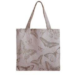 Butterfly Background Vintage Zipper Grocery Tote Bag