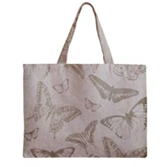 Butterfly Background Vintage Zipper Mini Tote Bag