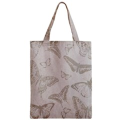 Butterfly Background Vintage Zipper Classic Tote Bag