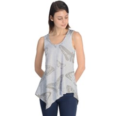 Butterfly Background Vintage Sleeveless Tunic