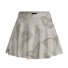 Butterfly Background Vintage Mini Flare Skirt