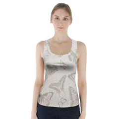 Butterfly Background Vintage Racer Back Sports Top