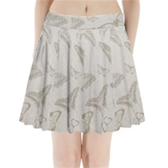 Butterfly Background Vintage Pleated Mini Skirt