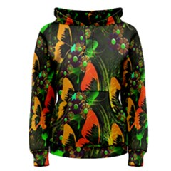 Butterfly Abstract Flowers Women s Pullover Hoodie