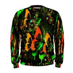 Butterfly Abstract Flowers Men s Sweatshirt