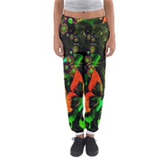 Butterfly Abstract Flowers Women s Jogger Sweatpants