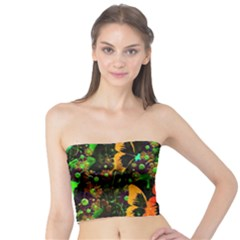 Butterfly Abstract Flowers Tube Top