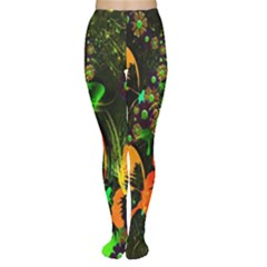 Butterfly Abstract Flowers Women s Tights