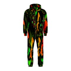 Butterfly Abstract Flowers Hooded Jumpsuit (kids)
