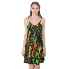 Butterfly Abstract Flowers Camis Nightgown