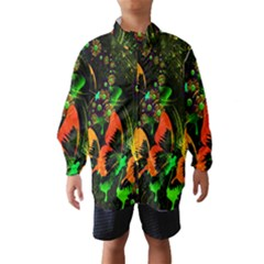 Butterfly Abstract Flowers Wind Breaker (kids)