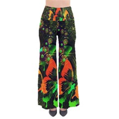 Butterfly Abstract Flowers Pants