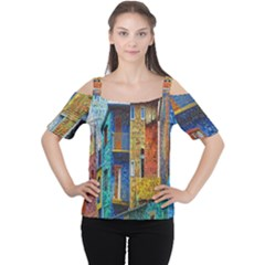 Buenos Aires Travel Women s Cutout Shoulder Tee