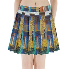 Buenos Aires Travel Pleated Mini Skirt