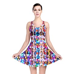 Bokeh Abstract Background Blur Reversible Skater Dress