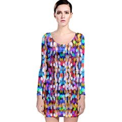 Bokeh Abstract Background Blur Long Sleeve Bodycon Dress