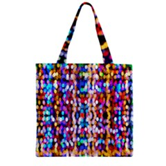 Bokeh Abstract Background Blur Zipper Grocery Tote Bag