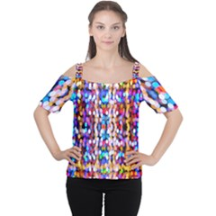 Bokeh Abstract Background Blur Women s Cutout Shoulder Tee