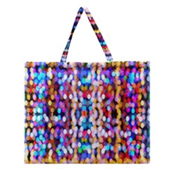 Bokeh Abstract Background Blur Zipper Large Tote Bag