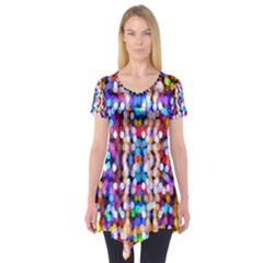 Bokeh Abstract Background Blur Short Sleeve Tunic