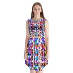 Bokeh Abstract Background Blur Sleeveless Chiffon Dress