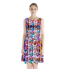 Bokeh Abstract Background Blur Sleeveless Chiffon Waist Tie Dress