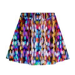 Bokeh Abstract Background Blur Mini Flare Skirt