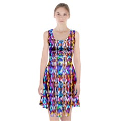 Bokeh Abstract Background Blur Racerback Midi Dress