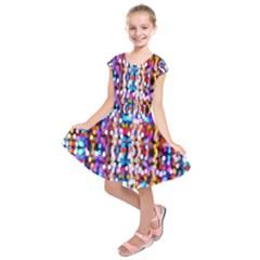 Bokeh Abstract Background Blur Kids  Short Sleeve Dress