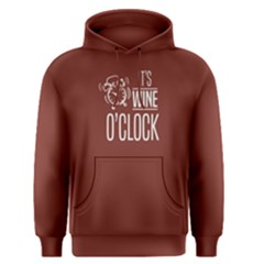 Red Its Wine O Clock  Men s Pullover Hoodie