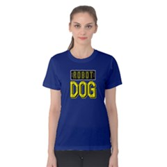 Robot Dog   Women s Cotton Tee