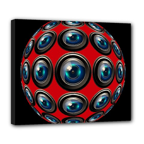 Camera Monitoring Security Deluxe Canvas 24  x 20