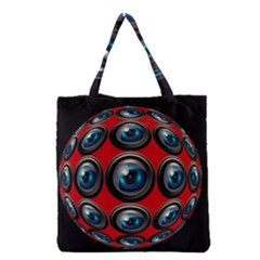 Camera Monitoring Security Grocery Tote Bag