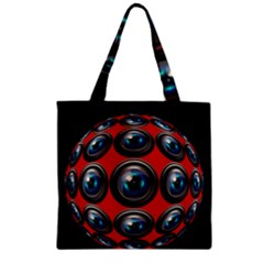 Camera Monitoring Security Zipper Grocery Tote Bag