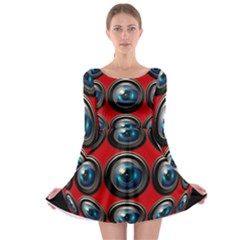 Camera Monitoring Security Long Sleeve Skater Dress